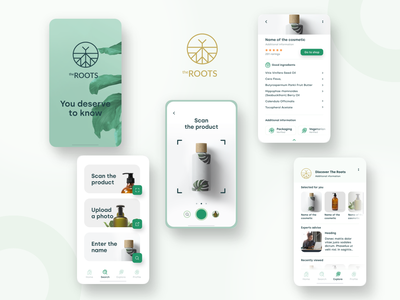 TheROOTS | natural cosmetics | mobile app logo design branding app ux ui mobile boldshift