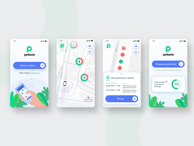 Parkenio | smart parking platform | mobile app aplication branding design logo app ux ui boldshift