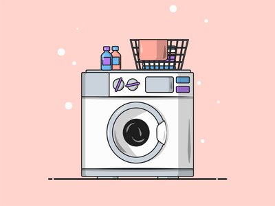 Flat Vector Illustration Series wash day dirty laundry laundry minimalist simple illustration minimal vector art flat vector vector illustration graphic graphicdesign
