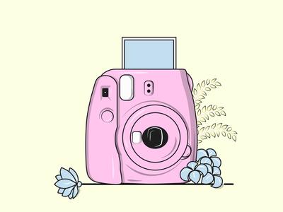 Flat Vector Illustration Series insta x polaroid illustration vectorart flat vector graphic instant photography instagram vector illustration photography instax polaroid