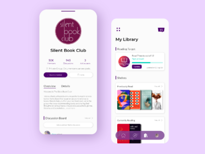 UI/UX Design - Overbooked bibliophile book lover cataloging social online club app design bookshelf library interface graphic design ui ux ui design book app book club club book