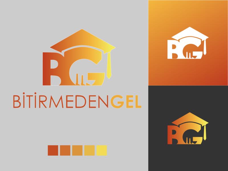 Logo Bitirmedengel typography icon turumaji design minimal branding logo illustration