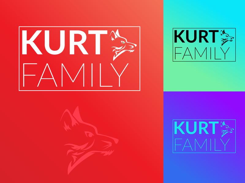 Kurt Family Logo typography turumaji illustrator design minimal art cloth label tags tag logo branding illustration