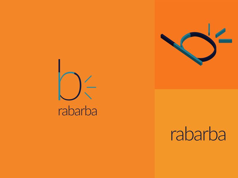 Rabarba Logo Design centered turumaji web design solition sound rabarba webdesign web minimal flat design logo branding