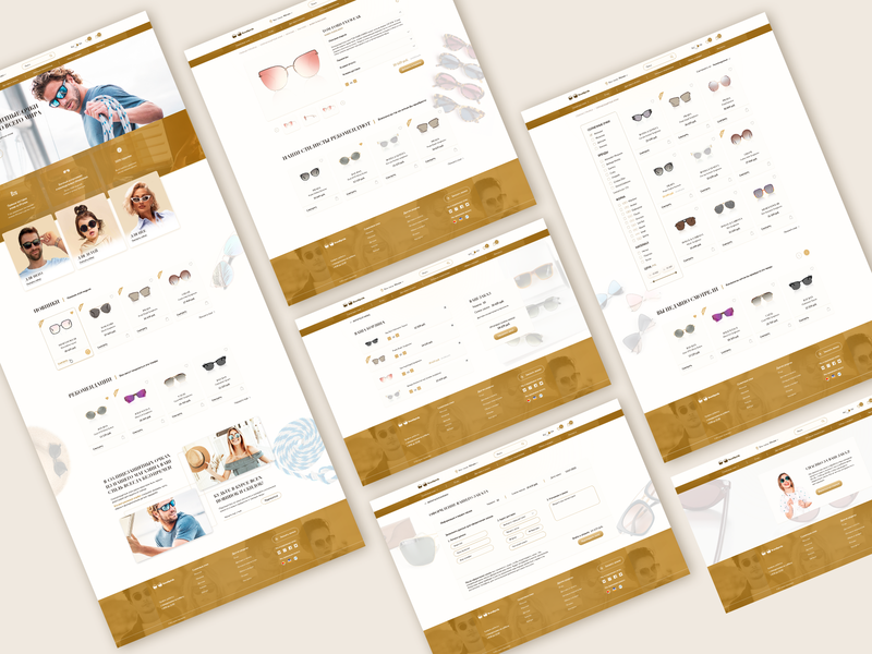 Desktop version of Sunglasses online store