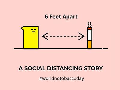 World No Tobacco Day branding comics minimal vector illustration flat instagram post