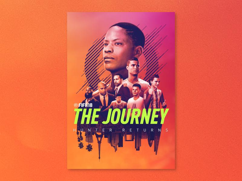 FIFA 18: The Journey Hunter Returns wallpaper print color gradient 3d gaming game ui ronaldo poster fifa