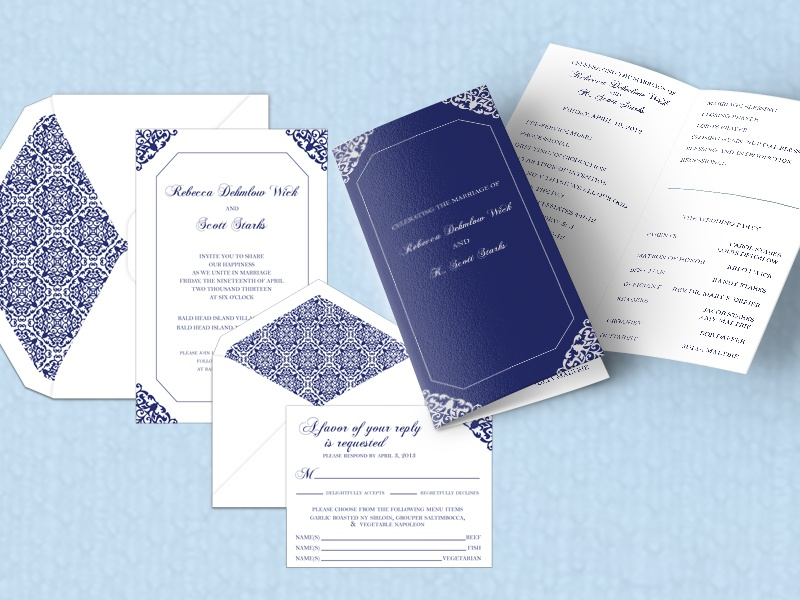 Becky and Scott Wedding Suite invitations wedding suite wedding invitations response card wedding program