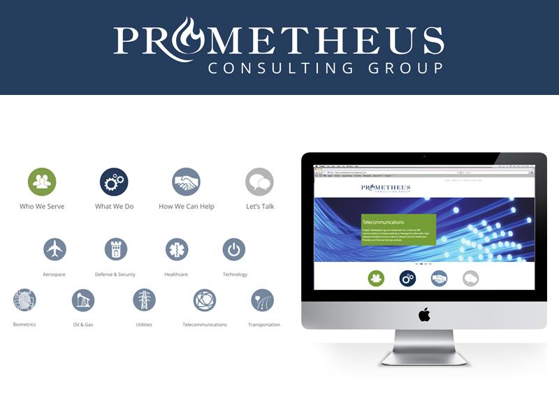 Prometheus Branding Identity logo icons logo design brand identity icon design icon set