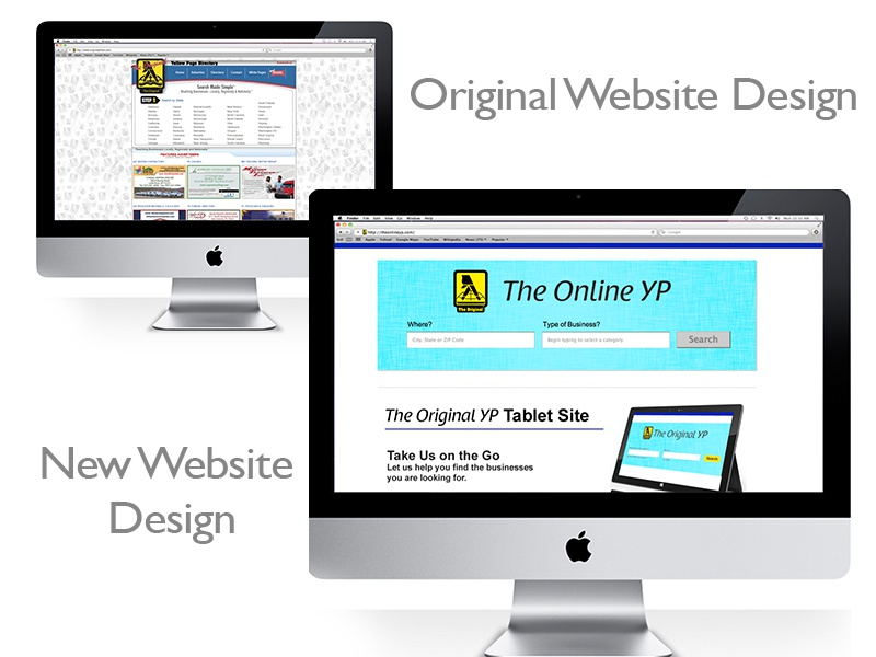 Yellow Page Directory Services Website Redesign website rebranding website redesign