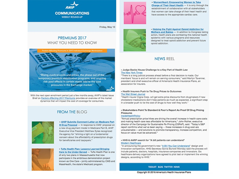 AHIP Email Template act-on email design digital design