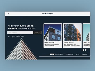 Houses.com uiuxdesign webdesign ui ux