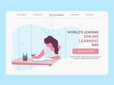 Tyro Learning uiuxdesign webdesign ui ux