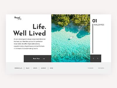 Royal Jetty uiuxdesign webdesign travel