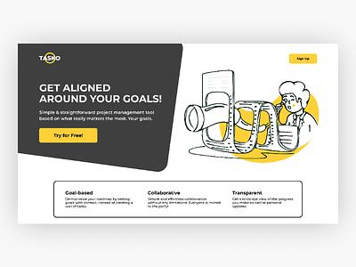 TASKO - Landing page. uiuxdesign webdesign ui ux