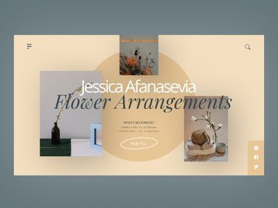 Jessica Afanasevia - Flower Arrangements ui ux uiuxdesign webdesign