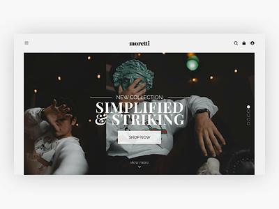 Moretti : Website UI Concept uiuxdesign webdesign ui ux