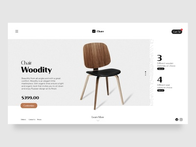 Landing Page website minimal typography web ux ui design daily