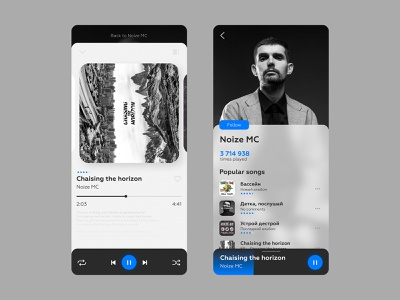 Music player music player music app design ux ui daily