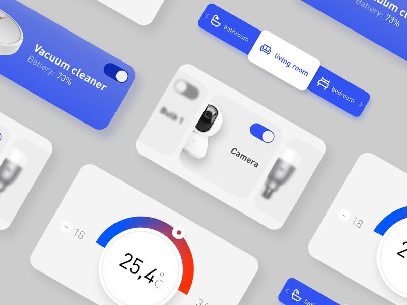 Xiaomi Home App minimal web app ui ux design daily