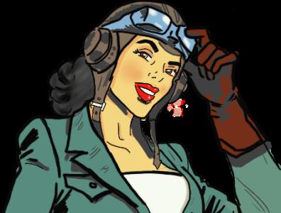 Air Force girl pop popart procreate digital illustration illustraion