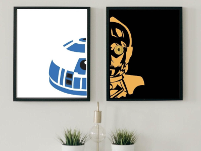 """R2PO - The Other Half Edition"" Print 1 minimal illustration flat design illustrator star wars"