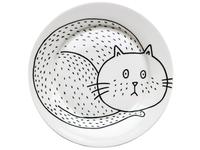 Sad Cat Plate