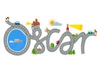 Custom Kids Name Illustration