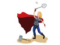 If Thor played badminton...