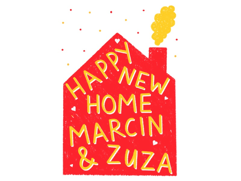 Happy new home greeting card design by siobhan jay dribbble happy new home card siobhan jay m4hsunfo