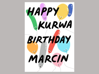 Happy Kurwa Birthday Card