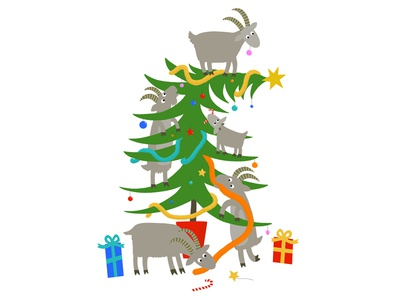 Goats in the (Christmas) tree