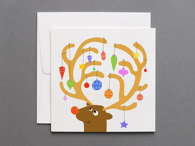 Festive Reindeer Holiday Card