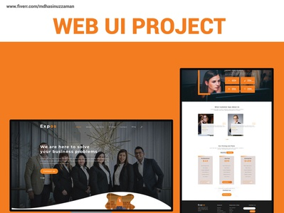 Business Web UI Project vector icon ux design adobe photoshop logo webuiuxdesign website ui uiux ui design