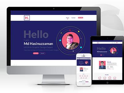 Portfolo   Web UI bestuiuxdesigner mdhasinuzzaman uidesign uiux graphic design