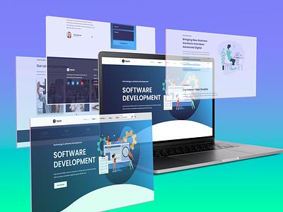I Tech UI Project technicalwebuidesign softwearwebuidesign uiuxprojectforsoftcompany bestwebuidesign mdhasinuzzaman itechwebuidesign uiproject webuidesign uidesign uiuxdesign ui