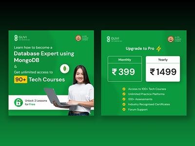 Facebook / Instagram Ads chennai india green instagram ads banner design typography minimal banner ads facebook ad ui branding e learning