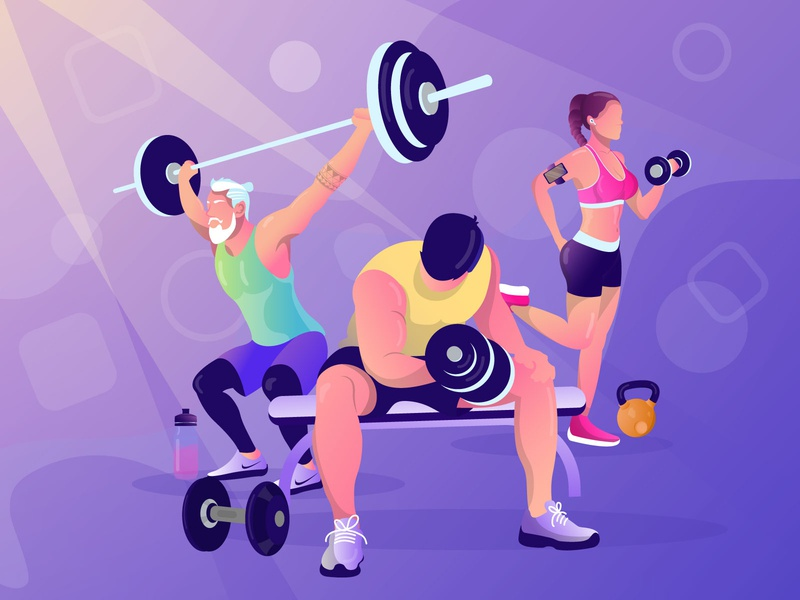 What hurts today makes you stronger tomorrow sportswear girl woman man old man tattoo airpod water bottle exercise gym fitness weight lifting dumbbell design character illustraion