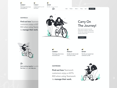 UI Exploration ui learn care man father daughter woman lady girl cycle art illustration