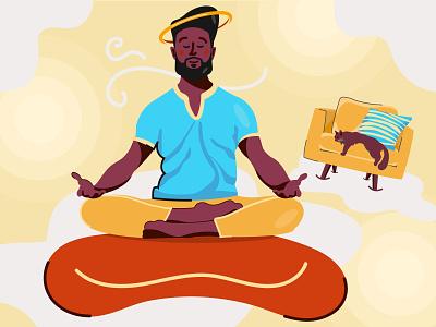 Yoga Meditation peace cat heven meditation mind helth fitness yoga