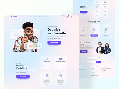SEO Agency Landing Page seo company seo agency seo color design branding logo web design webdesign landingpage uiux ux ui