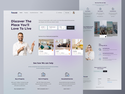 Property Management Agency Landing Page customer service rent sale property management property logo typography icon trendy web design webdesign landingpage ux uiux ui