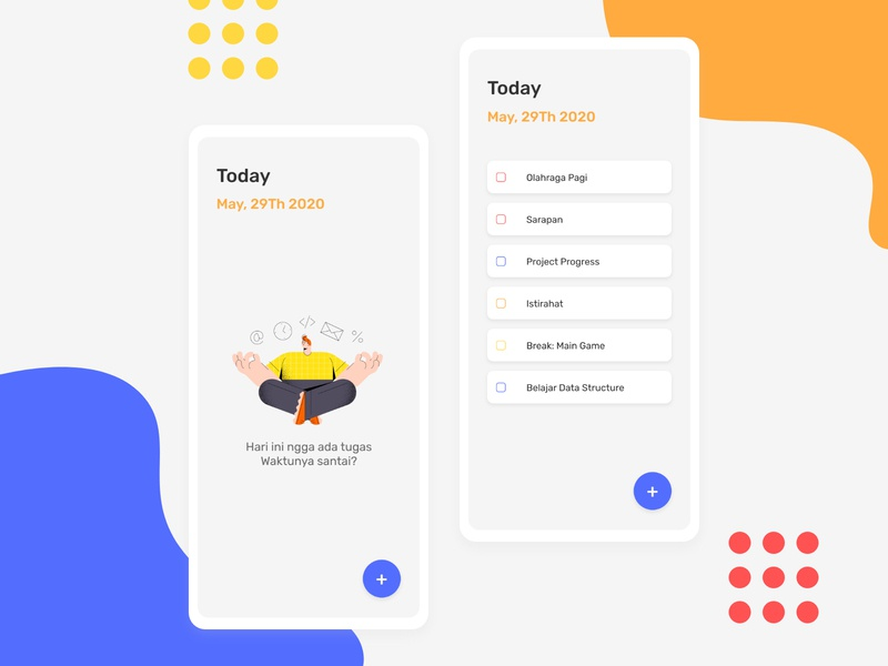 To-Do App Concept Mobile Design illustrator minimal flat app ux ui design