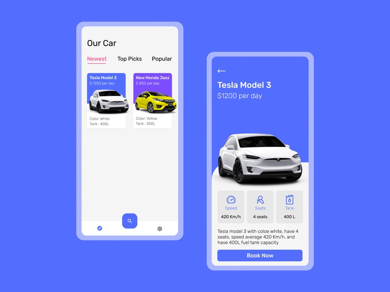 Car Rent App Design Concept animation vector illustration flat art ux ui minimal design app