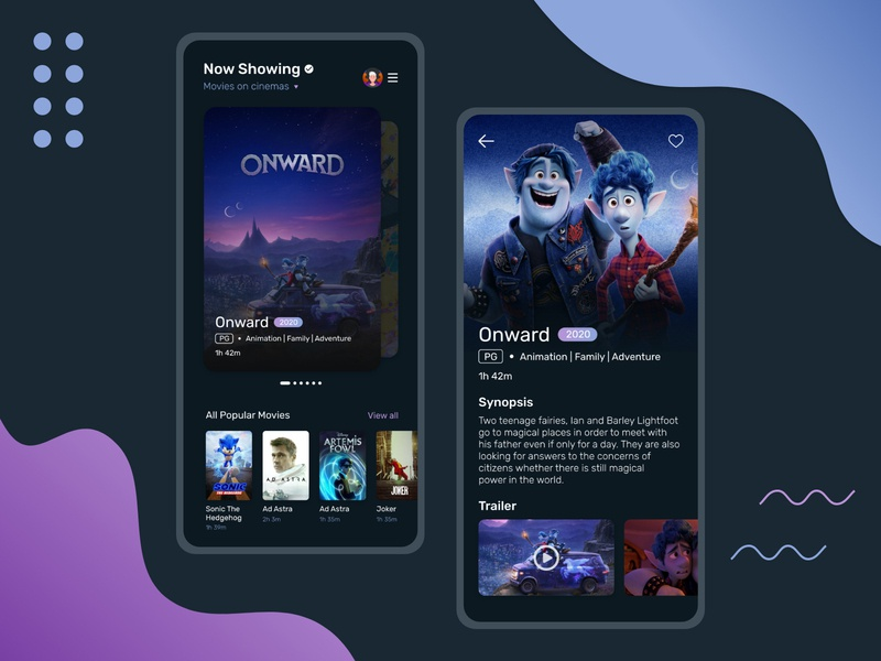 Movie Catalogue App Design lettering typography illustration ux app ui minimal flat art design