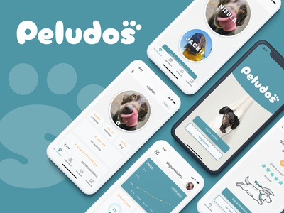 App Peludos vet veterinary tracking pets parrot dog peludos animal animals color branding ux design ui app