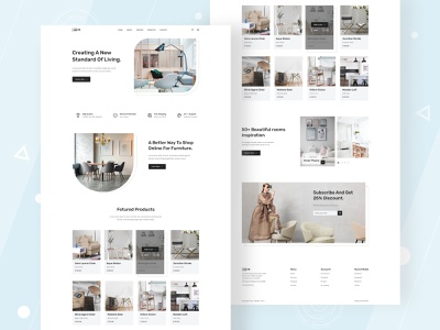 Furniture Landing Page UI figma dribbble app design ux ui ui design furniture ecommerce furniture design furniture furniture website