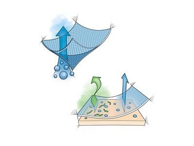 Recycled Wickable Fabric technical illustration industrial design fabric cutaway adobe photoshop adobe illustrator