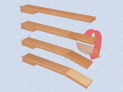 Guitar Neck Scarf Joint technical illustration music how-to guitar adobe photoshop adobe illustrator