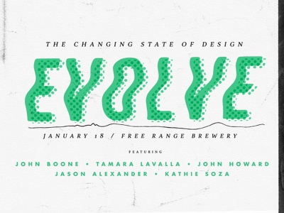 Evolve type design event